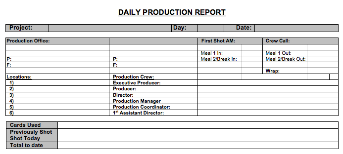 Daily-Production-Report